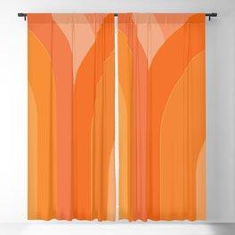 Retro Geometric in Orange 96 Blackout Curtain