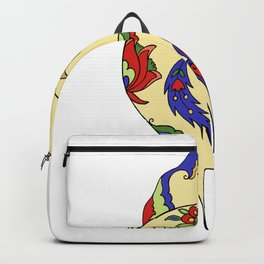 Bird and flowers Backpack