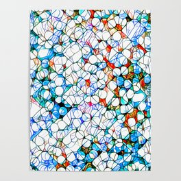 Glass stain mosaic 4 - dots & checkers Poster