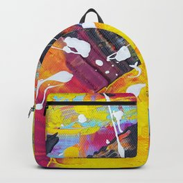The Monkey: Fun and Colorful Abstract Backpack