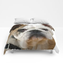 American Bulldog Background Removed Comforters
