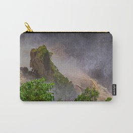 Rock showing in the waterfall Carry-All Pouch