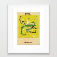 brasil Framed Art Prints featuring Brasil by federico babina