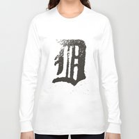 detroit Long Sleeve T-shirts featuring Detroit by Landon Sheely