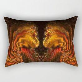 Face to Face. Rectangular Pillow