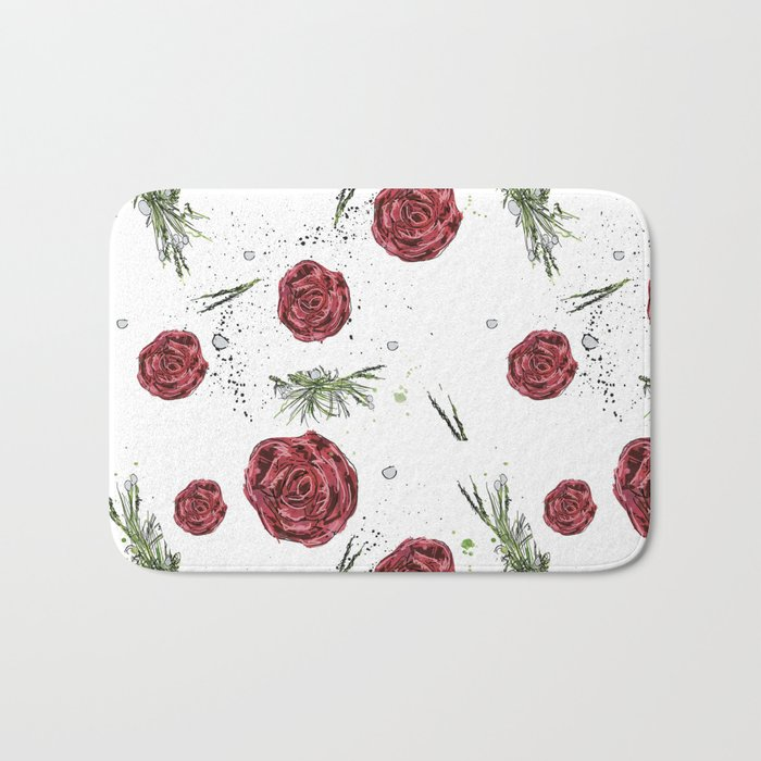 Roses pattern Bath Mat
