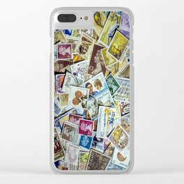 Postage Stamp Collection Clear iPhone Case