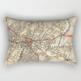 Vintage Map of Charlottesville Virginia (1949) Rectangular Pillow