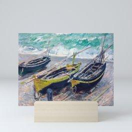 Three Fishing Boats by Claude Monet Mini Art Print