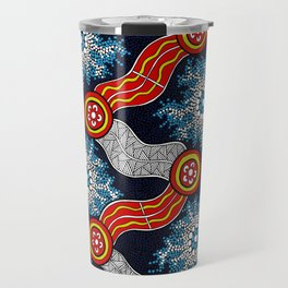 Aboriginal Art Authentic - The Journey Travel Mug