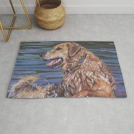 Golden Retriever dog art   from an original painting by L.A.Shepard Rug