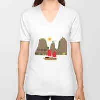 vietnam V-neck T-shirts featuring Vietnam View by Design4u Studio