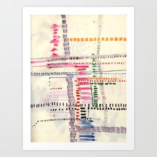 Map To Morocco (3) Art Print