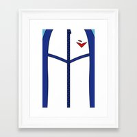 iwatobi Framed Art Prints featuring Free Iwatobi Swim Club Team Jacket by Bunny Frost