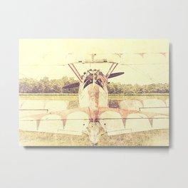 Patriot Biplane // Antique Airplane Metal Print
