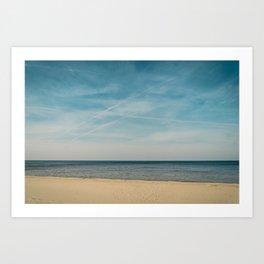 Baltic Sea   Beach   Blue Sky   Landscape   Horizontal   Nature   Latvia   Europe   Madara Travels   Wall Art   Liepaja   Shore   Seaside  Art Print