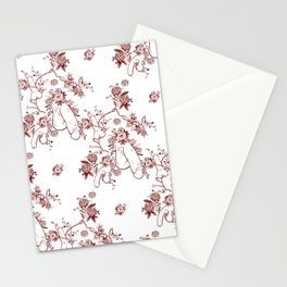 Penis Pattern RED Stationery Cards