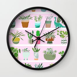 Shelfie cactus print Wall Clock