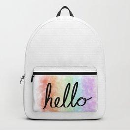 Hello, Rainbow Backpack
