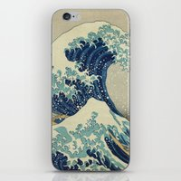 xbox iPhone & iPod Skins featuring The Great Wave off Kanagawa by Palazzo Art Gallery
