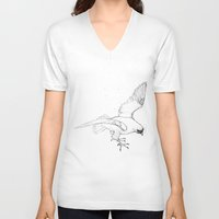 falcon V-neck T-shirts featuring Falcon by Colleen