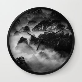 Clouds & Trees Wall Clock
