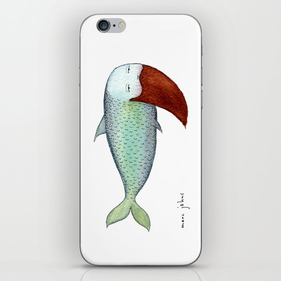 fish with beard iPhone & iPod Skin
