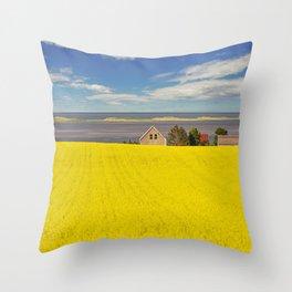 Bright Canola Throw Pillow