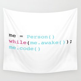 Keep coding Wall Tapestry