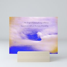 """Cloud Window #34"" with poem: Fame #2 Mini Art Print"