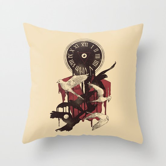 Existence in Time and Space Throw Pillow