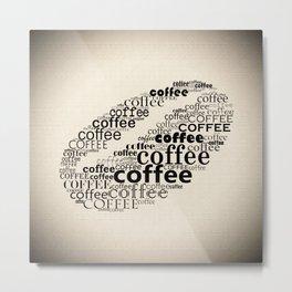 Coffee bean vignette Metal Print