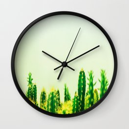 Dreamy Cacti Wall Clock