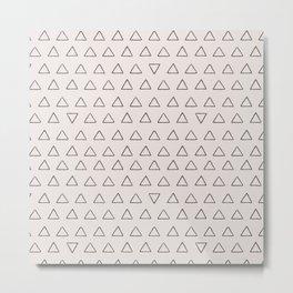 Modern hand painted black fair pink geometric triangles Metal Print