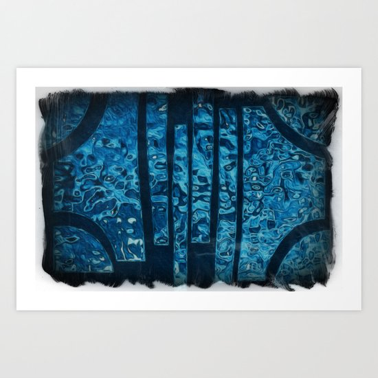 Water reflecting in a broken mirror Art Print