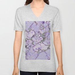 Lavender Marble Unisex V-Neck
