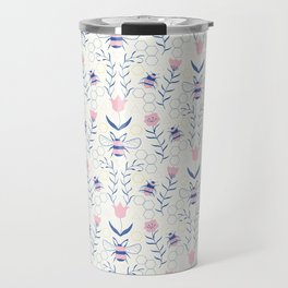 Bee Garden Pattern Travel Mug