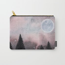 Bright Night Sky Watercolor Carry-All Pouch
