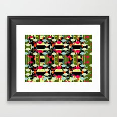 Flamingos abstract Framed Art Print