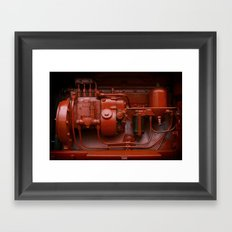 Red Tractor motor Framed Art Print