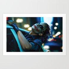 Joker Heath Ledger Art Print