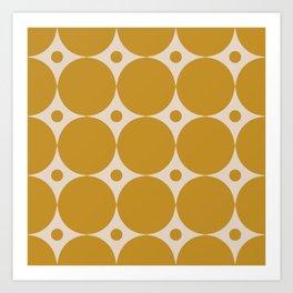 Futura Mid-century Modern Minimalist Abstract Pattern in Mustard Gold Art Print