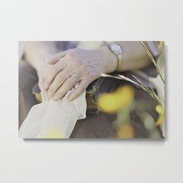 Mothers Hands Metal Print