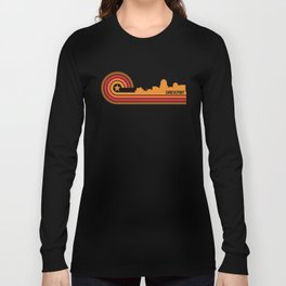 Retro Shreveport Louisiana Skyline Long Sleeve T-shirt
