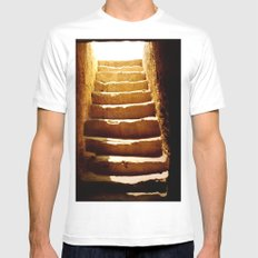 Steps to tomb White SMALL Mens Fitted Tee