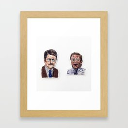 Ron + Andy Framed Art Print