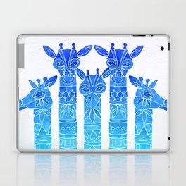 Giraffes – Blue Ombré Laptop & iPad Skin