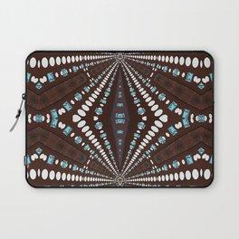 Chocolate Aqua Tribal Sunray Laptop Sleeve