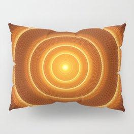 Golden Pulse Mandala Pillow Sham