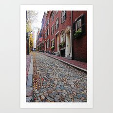 Acorn street views Art Print